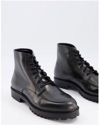 Walk London Sean Heritage Boots - Black