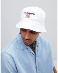 ASOS - Bucket Hat In White With Embroidery - Lyst