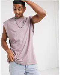 ASOS Organic Oversized Vest With Dropped Armhole - Purple