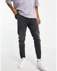 TOPMAN Tapered Jeans - Black
