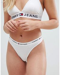 Tommy Hilfiger Iconic Thong - White