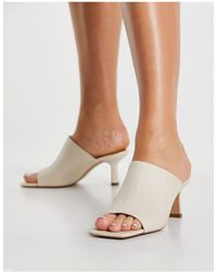 & Other Stories Leather Heeled Mules - Multicolour