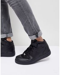 Nike - Черные Кроссовки Air Force 1 Mid '07 315123-001-черный - Lyst