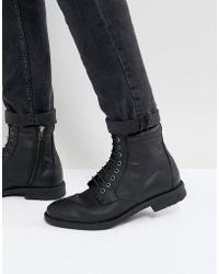 KG by Kurt Geiger - Kg By Kurt Geiger Military Lace Up Boots Black - Lyst