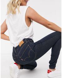 Levi's – 721 – Enge Jeans mit hohem Bund - Blau