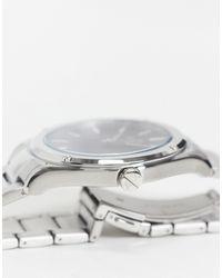 Armani Exchange Серебристые Часы-браслет С Черным Циферблатом Fitz Ax2800-серебристый - Металлик