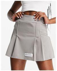 Public Desire Mini-jupe plissée - sauge - Gris