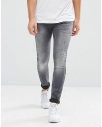 G-Star RAW - Jeans Defend Super Slim Skinny Fit Slander Grey Superstretch Light Aged - Lyst