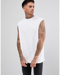 c9aa42b68431a New Look. Sleeveless T-shirt In White. £6. ASOS · Another Influence - Back  Pring A Logo Vest - Lyst