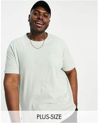 Threadbare Plus – T-Shirt mit Tasche - Mehrfarbig