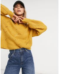 Native Youth Oversized Jumper - Yellow