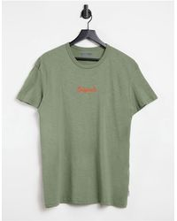 Jack & Jones - Зеленая Футболка С Неоновым Логотипом Originals-зеленый Цвет - Lyst