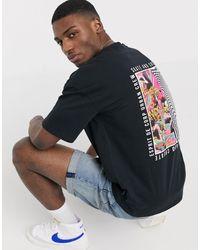 Esprit Oversized T-shirt With Back Print - Black