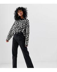 Weekday – Row – Schmale Jeans mit geradem Beinschnitt aus Bio-Baumwolle - Schwarz