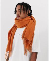 ASOS 100% Wool Blanket Scarf In Rust - Brown