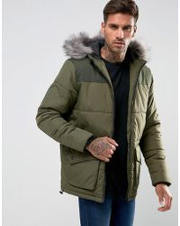 Another Influence - Hooded Quilted Coat - Lyst