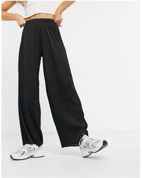 ASOS Pantalon large plissé - Noir