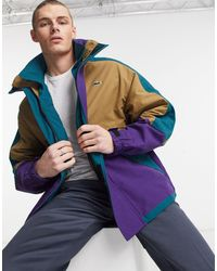 Lacoste Live 90s Style Colourblock Parka - Green