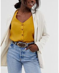 Glamorous - Brown Mock Croc Double Circle Waist And Hip Jeans Belt - Lyst
