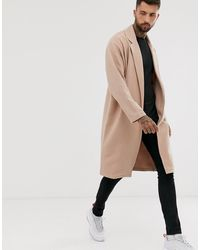 ASOS Oversized Jersey Duster Jacket - Natural