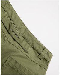 Collusion Unisex - Pantaloni dritti stile anni '90 con dettaglio con cuciture verde crepuscolare