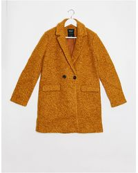ONLY Lally - Manteau en laine bouclée - Orange