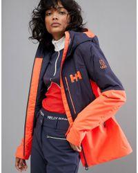 Helly Hansen - Freedom Jacket In Navy/orange - Lyst