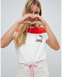 Converse X Hello Kitty Football T-shirt - Multicolour