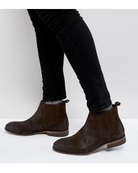 ASOS - Wide Fit Chelsea Boots In Brown Suede With Natural Sole - Lyst