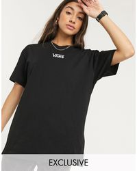 Vans Черная Oversize-футболка С Логотипом На Груди Эксклюзивно Для Asos-черный