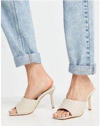 Forever New Belinda Weave Mule - White