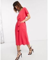 Closet Closet Kimono Belted Dress - Pink