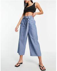 Vero Moda Pantaloni culotte - Blu