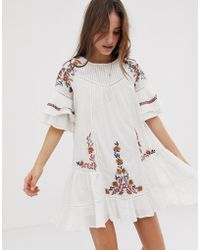 Free People - Pavlo Embroidered Tunic Dress - Lyst