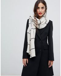 French Connection - Window Pane Check Scarf - Lyst