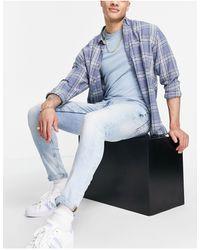Burton Burton Skinny Fit Rip & Repair Jeans - Blue