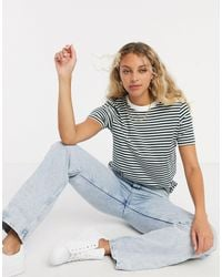SELECTED Perfect Stripe T-shirt - Green