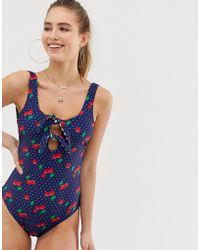 Juicy Couture - Cherry Gingham Revisible Swimsuit - Lyst