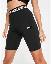 House of Holland Logo Short leggings - Black