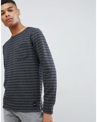 Only & Sons - Striped Long Sleeve Crew Neck Top - Lyst