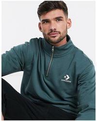 Converse – Sweatshirt mit kurzem Reißverschluss - Mehrfarbig