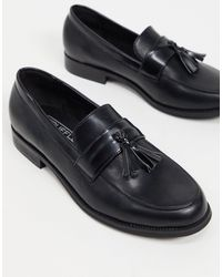 Truffle Collection Woven Tassel Loafers - Black
