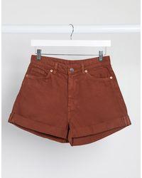 Monki Pantalones vaqueros cortos marrones - Marrón