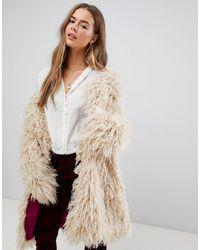 Free People Fur Coat - Natural