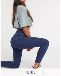 Collusion Petite - x002 - jeans super skinny vita alta lavaggio scuro - Blu