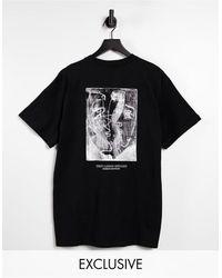 Reclaimed (vintage) Camiseta negra con estampado - Negro