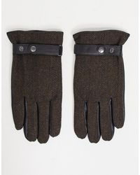 ASOS Touchscreen Leather Driving Gloves - Brown