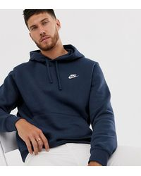low priced f3085 90195 Pullover Hoodie With Swoosh Logo In Navy - Blue
