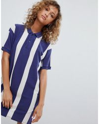Pull&Bear - Rugby Dress In Colourblock Blue - Lyst