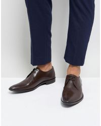 Frank Wright - Derby Shoes In Brown Leather - Lyst